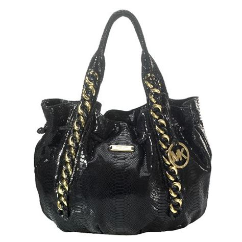 Michael Kors Id Chain Python Shoulder Bag by Michael Michael Kors Python Print Id Chain South Tote