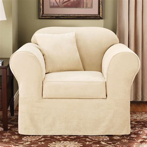 sure fit chair slipcovers sure fit slipcovers suede supreme chair slipcover atg stores