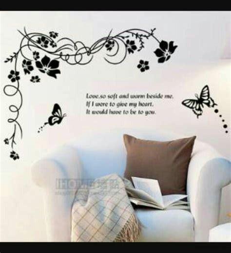 Motif Bunga Wallpaper Wallsticker Uk 60 X 90 Cm jual wall sticker siluet bunga uk 60 x 90 cemarastore