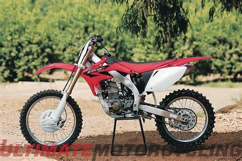 2004 honda crf450r 2005 honda crf450r retro review total