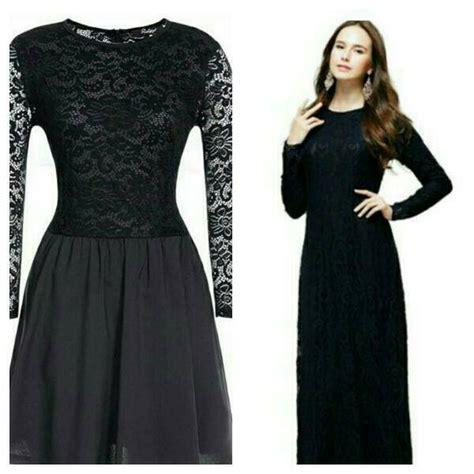 Gaun Brukat Hitam Ennea Cantik picture longdress brukat jual gaun dress brokat hitam