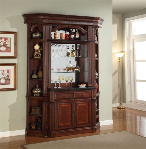 home bar with granite top parker house wellington antique chestnut finished home bar with granite top