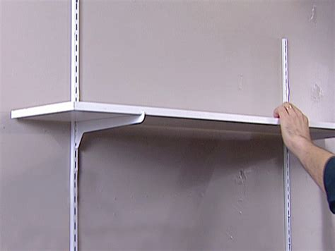 how to install shelving in the garage the home depot