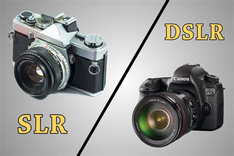 dslr or digital what s the difference between slr and dslr cameras