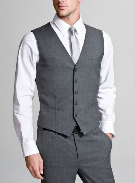 light grey vest and justin in gray vest and a bowtie with either white or gray