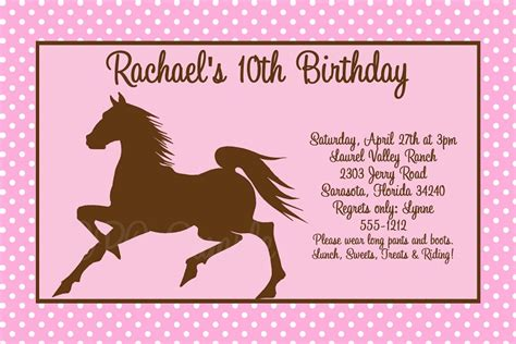 printable birthday invitations horse theme exciting horse birthday party invitations to design