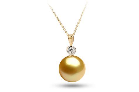 golden south sea diana pearl pendant 11 00 11 50mm