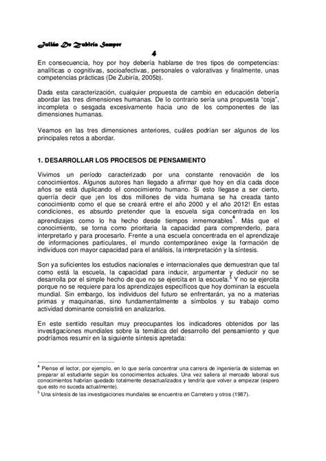Diseño Curricular Por Competencias Julian De Zubiria Retos A La Educacion Siglo Xxi De Zubiria