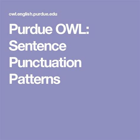 Sentence Patterns Purdue Owl | 24 best images about grammar grammar mistakes fun