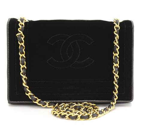 Chanel Classic Snake Co1 3 chanel classic single flap bag item black velvet vintage