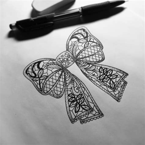 lace bow tattoo designs my lace bow design for a tattoos