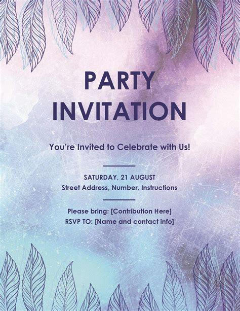 invitation flyer party invitation flyer