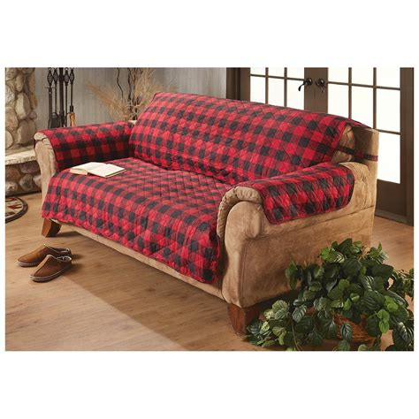 Surefit 174 Cotton Duck Furniture Cover Buffalo Check