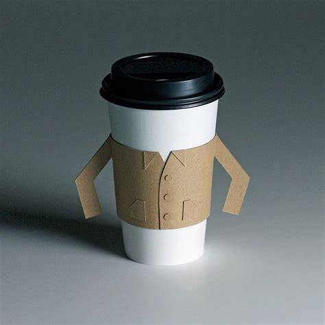 Teh Jawa Cup java jacket yup do not fear the cup of coffee no more this is awesome packaging design