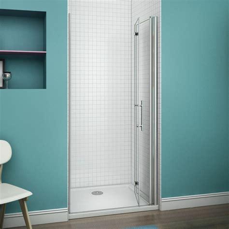 Bi Fold Glass Shower Door Frameless Aica Frameless Bi Fold Pivot Shower Enclosure 6mm Glass Door Screen Reversible