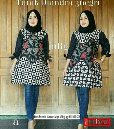 100 gambar baju batik tunik muslim dengan tunik batik