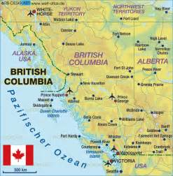 map bc canada map of columbia canada map in the atlas of the