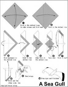 Origami Seagull - origami