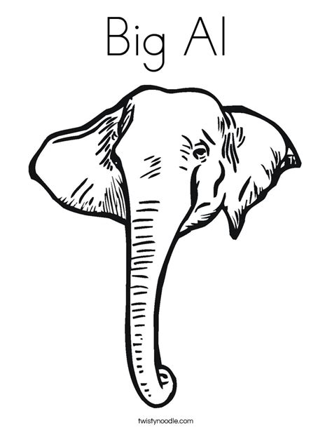 alabama elephant coloring page big al coloring page twisty noodle