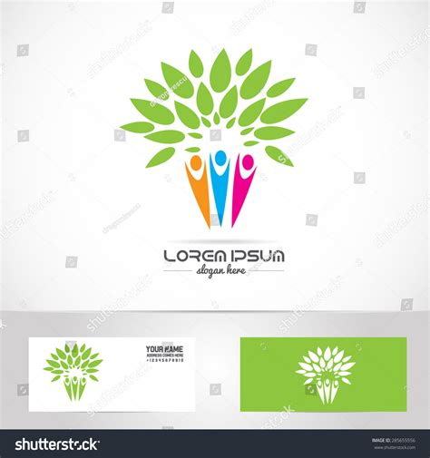 Vector Company Logo Element Template Family Stock Vector 285655556 Shutterstock Genealogical Tree Concept Family Tree Template Stock Vector 565921546