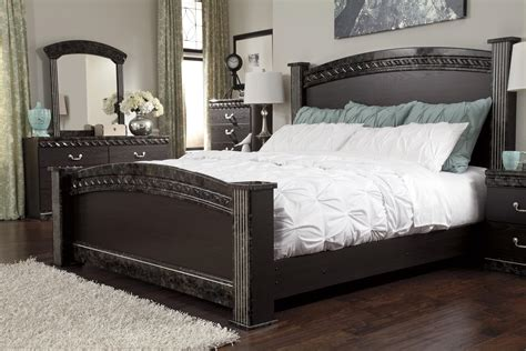 Pacifica 4 Bedroom Set by Traditional King Poster Bed With Faux Marble Trim By