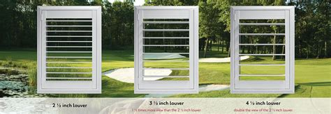 interior design styles comparison louver size plantation shutters eclipse shutters
