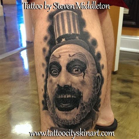 captain spaulding tattoo 406 best tattoos images on horror tattoos