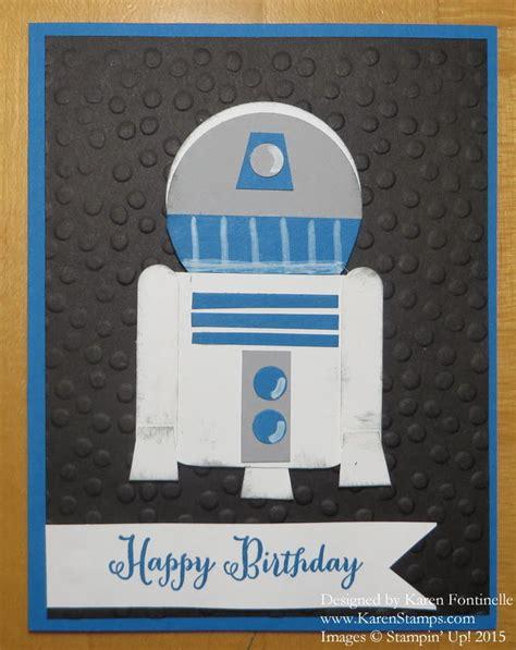 R2d2 Birthday Card Star Wars R2d2 Punch Art Birthday Card Sting With Karen