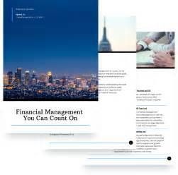 Financial Services Proposal Template Free Sle Financial Services Template