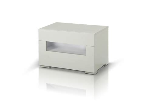 Modern White Nightstands ceres modern white lacquer nightstand