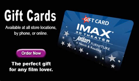 Imax Gift Cards - imax movies at jordan s furniture in reading and natick ma