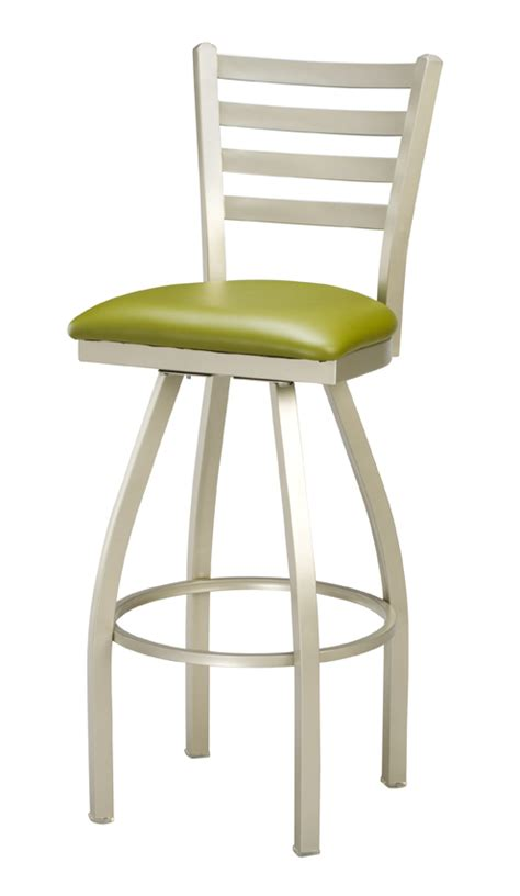commercial swivel bar stools regal seating series 3516 counter height ladder back