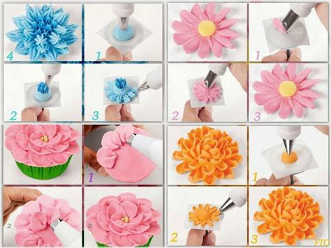 buttercream piping 101 decorating tips designs piping flowers tutoriales flores pasta de goma flower cakes and tutorials