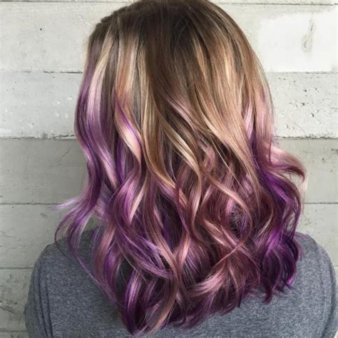 20 purple ombre hair color ideas thick hairstyles 20 idee di balayage viola per il 2018