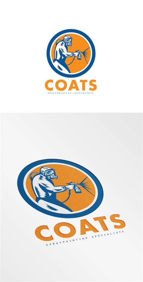 spray paint logo coats spray painting logo logo templates on creative market