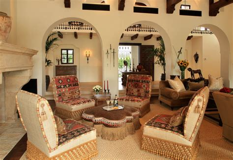 living room spanish spanish colonial