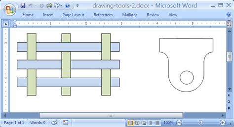 office drawing tools microsoft office word 2007