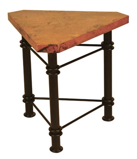 copper accent table triangle copper accent table copper furniture free shipping