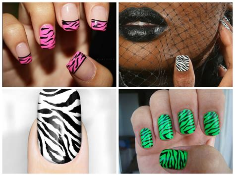 how to decorate nails at home how to do zebra nails at home