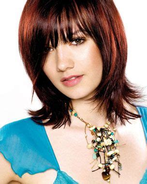 bangs hairstyles meduim shag flip short layered hairstyles with bangs how to create mid