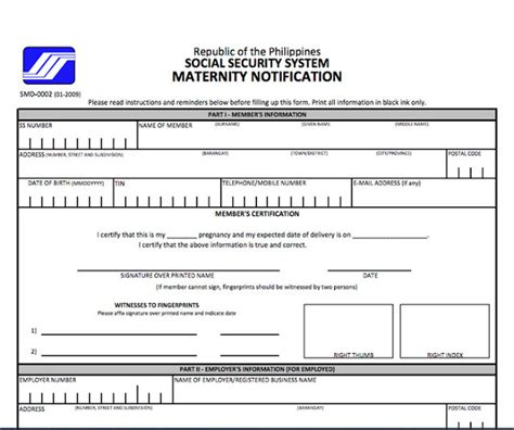 Mat Form by How To Reimburse Sss Maternity Benefits