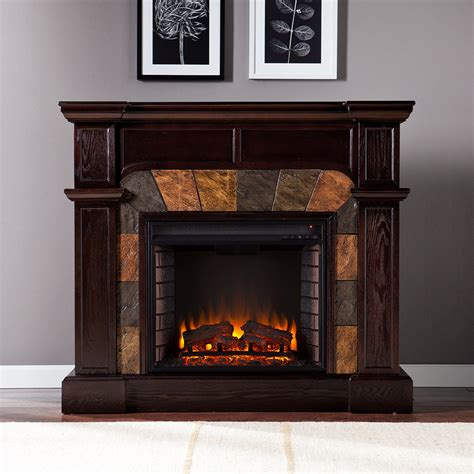Electric Fireplace by Cartwright Espresso Convertible Electric Fireplace Mantel