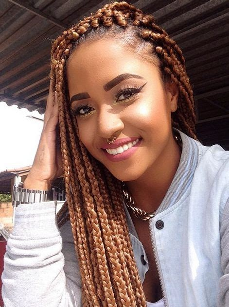 honey blonde senegalese 65 box braids hairstyles for black women box braids