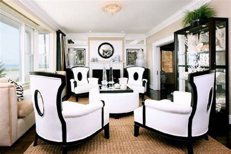 cozy black and white chairs living room sophistication