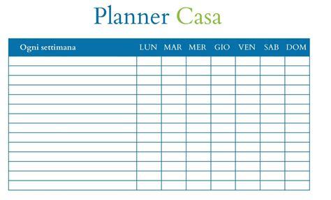 Planner Casa by Pulizie Di Casa Il Planner Per Tutto L Anno Babygreen