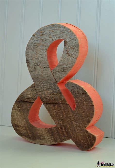 rustic ampersand  symbol  tool belt