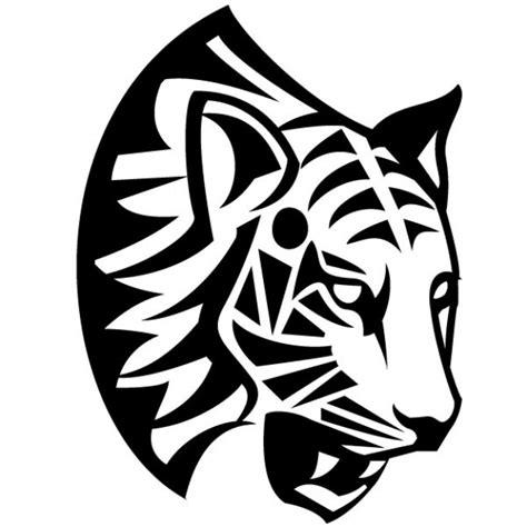 tribal tiger tribal tiger face vector illustration vector free download
