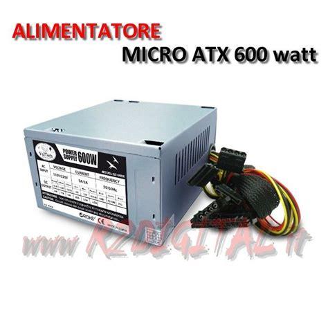 alimentatori mini itx alimentatore pc vultech tec micro atx 600 watt v2 3 mini