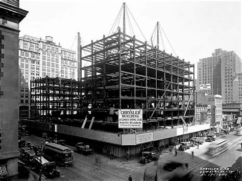 chrysler building nyc being built construction
