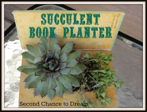 Succulent Book Planter by Handemade Gifts Diy Gifts From The Gardeners Garden Matter